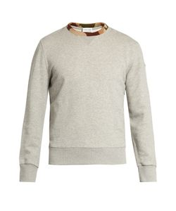 Moncler | Contrast-Trim Cotton-Jersey Sweatshirt