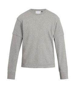 Helmut Lang | Long-Sleeved Cotton-Waffle Top