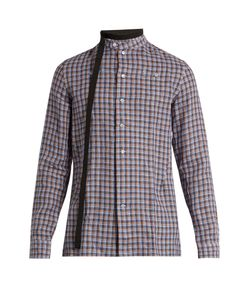 Raf Simons | Belted-Neck Checked Linen Shirt