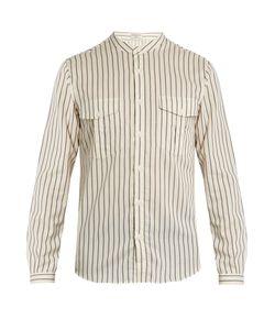 Éditions M.R | Mandarin-Collar Striped Cotton Shirt