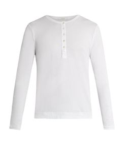 Adam Lippes | Long-Sleeved Cotton Henley Top