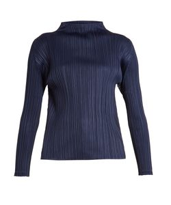 PLEATS PLEASE BY ISSEY MIYAKE | High-Neck Pleated Top