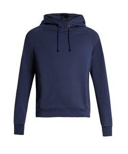 MARTINE ROSE | Embroide Cotton-Jersey Hooded Sweatshirt