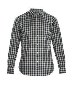 The GIGI | Skat Single-Cuff Checked-Cotton Shirt