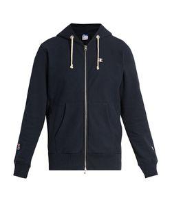 Champion x Beams | Hooded Zip-Through Cotton-Blend Sweatshirt