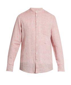 Massimo Alba | Noto Granddad-Collar Striped Linen Shirt
