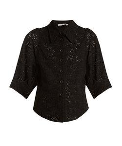 Chloe | Broderie-Anglaise Point-Collar Shirt
