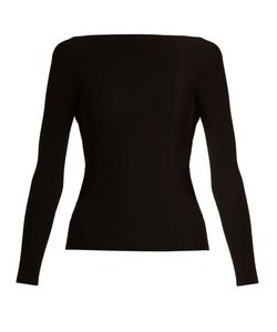 Helmut Lang | Cut-Out Back Technical Ribbed-Knit Sweater