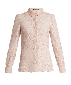 Dolce & Gabbana | Point-Collar Cordonetto-Lace Shirt