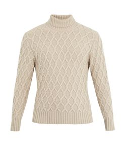 INIS MEÁIN | Trellis Cable-Knit Wool Sweater