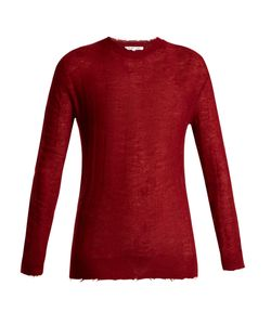 Helmut Lang | Raw-Edge Loose-Knit Top
