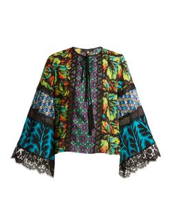 Andrew Gn   -Print Silk-Blend Georgette Blouse