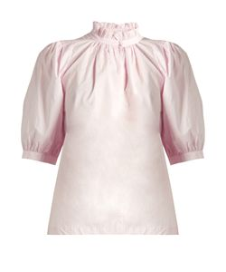 Rebecca Taylor | Ruffled-Collar Cotton-Poplin Top