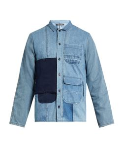 LONGJOURNEY | Utility Button-Patch Cotton-Denim Shirt