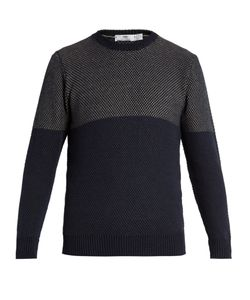 INIS MEÁIN | Birds-Eye Knit Linen And Cotton-Blend Sweater