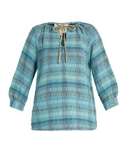 ACE & JIG | Rosa Checked Cotton-Blend Top