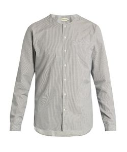 Oliver Spencer | Tarifa Collarless Pinstriped Cotton Shirt