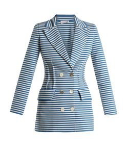 Sonia Rykiel | Striped Double-Breasted Cotton-Blend Jacket