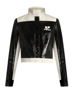 Courreges | Contrast-Panel Faux Patent-Leather Jacket