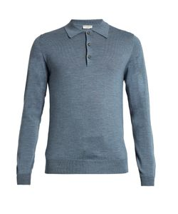 Éditions M.R | Long-Sleeved Wool-Knit Polo Shirt