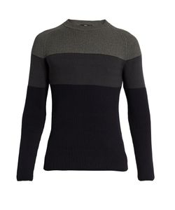 HELBERS | Colour-Block Cotton Sweater