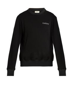 Everest Isles | Coast-Embroidered Cotton Sweatshirt