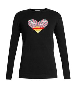 Bella Freud | Sunset Heart Cotton And Cashmere-Blend Sweater