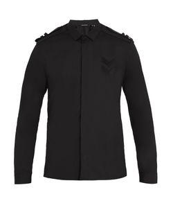 Neil Barrett | Shoulder-Epaulette Cotton-Poplin Shirt