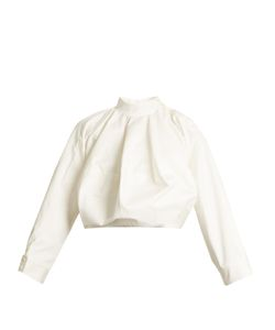 J.W. Anderson | High-Neck Balloon-Sleeved Cotton Top