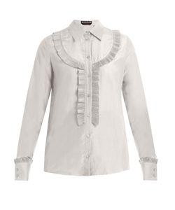 Rochas | Pleated-Bib Silk-Crepe Shirt