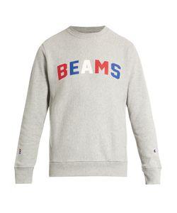 Champion x Beams | Logo-Printed Cotton-Blend Sweatshirt