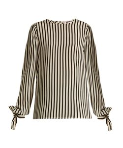 MSGM | Silk Striped Top