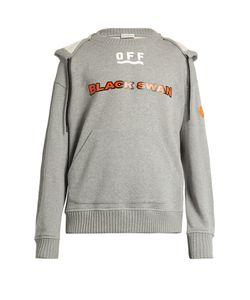 Moncler O | Swan-Print Hooded Cotton Sweatshirt