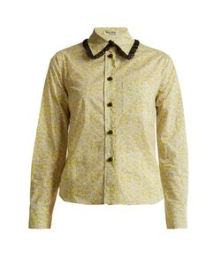 Miu Miu | -Print Cotton-Poplin Shirt