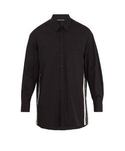 Neil Barrett | Oversized Striped-Side Cotton-Poplin Shirt