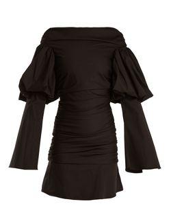 Ellery   Cissy Strut Ruched Cotton Mini Dress