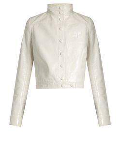 Courreges | Stand-Collar Faux Patent-Leather Jacket