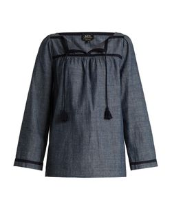 A.P.C. | Sol Cotton-Chambray Top