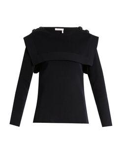 Chloe | Sailor-Collar Buttoned-Shouder Cotton Sweater