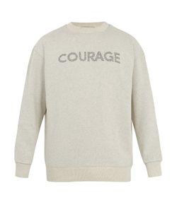 Maison Kitsune | Courage-Print Jersey Sweatshirt
