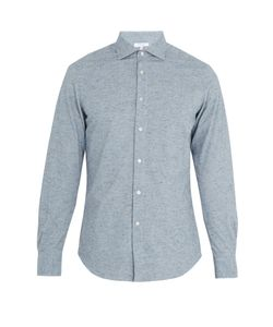 Boglioli | Regular-Fit Single-Cuff Cotton-Fleck Shirt