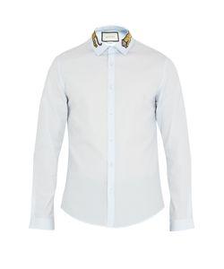 Gucci | Duke Tiger-Appliqué Point-Collar Cotton Shirt