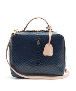 Mark Cross   X Chelsea Leyland Laura Python Shoulder Bag