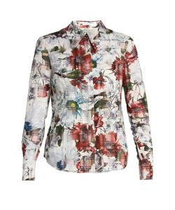 Erdem | Sloaneprint Cotton-Blend Seersucker Shirt
