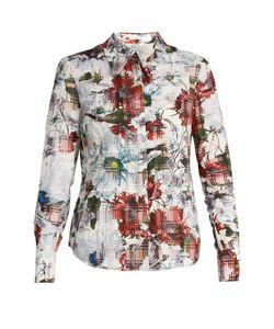 Erdem | Sloaneprint Cotton-Blend Seersucker Shirt