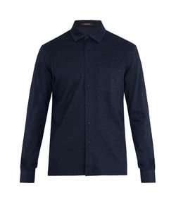 Ermenegildo Zegna | Long-Sleeved Cotton-Jersey Polo Shirt
