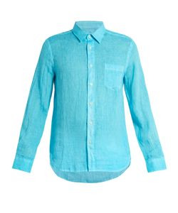 120% Lino | Point-Collar Linen Shirt