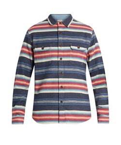 Faherty | Striped Cotton-Jacquard Long-Sleeved Shirt