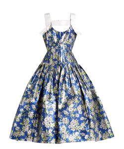 Delpozo   -Print Pleated Midi Dress