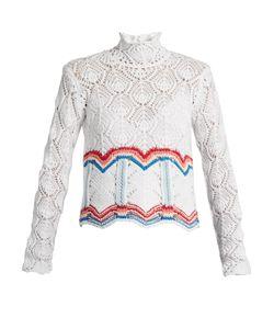 Peter Pilotto | High-Neck Cotton-Blend Crochet Sweater